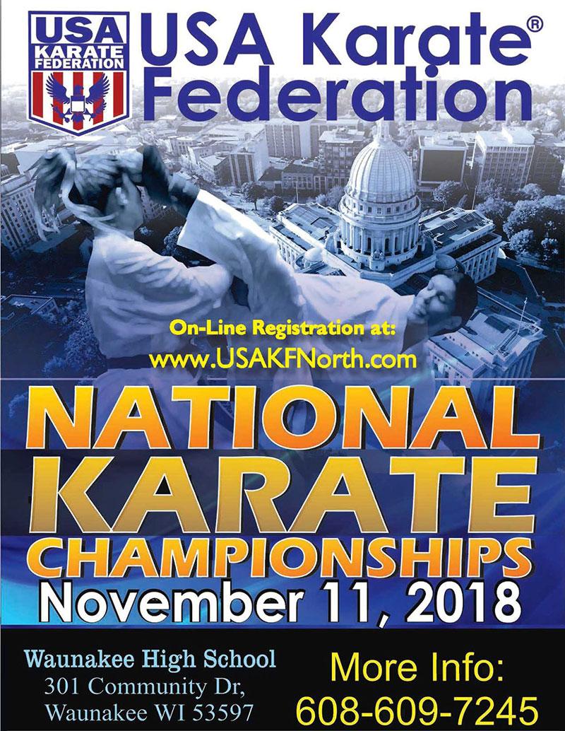 USA Karate Federation Nationals, Sunday November 11th